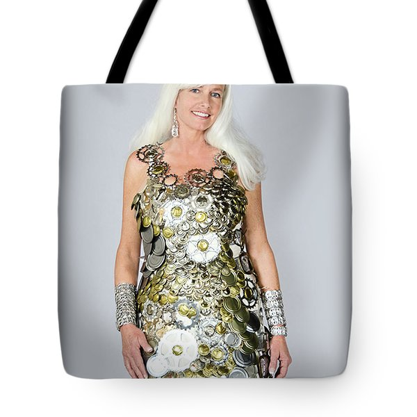 Sara In Clockwork Dragon Dress  Tote Bag
