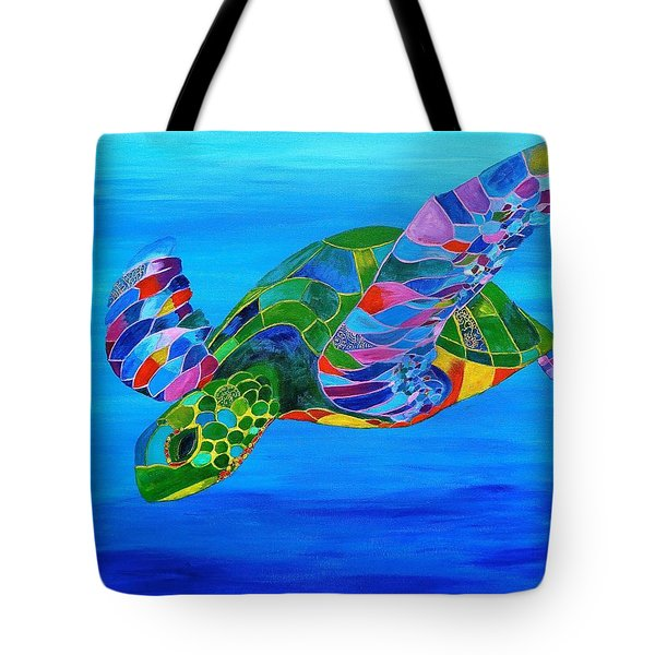 Abstract Mehndi Sea Turtle  Tote Bag
