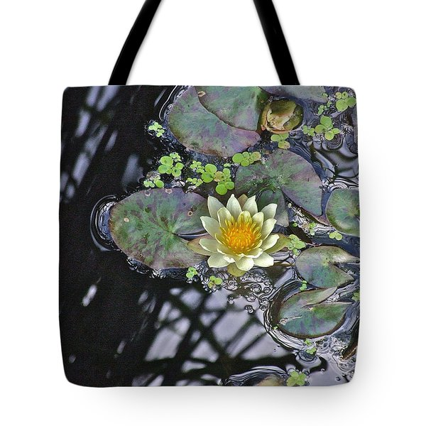 September White Water Lily Tote Bag