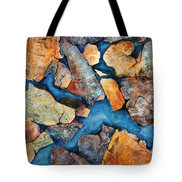 Shoreline Rocks Tote Bag