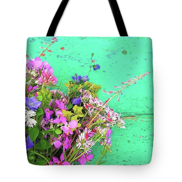 Wild Flowers From Norway Tote Bag