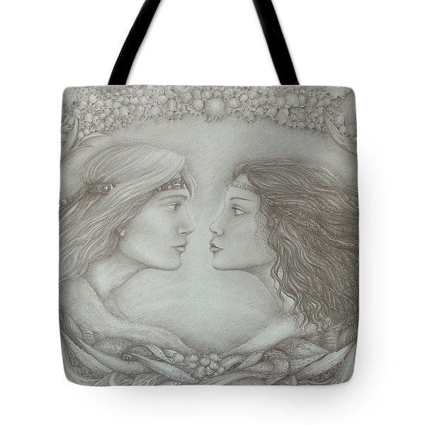 Spring Lovers With Snowdrops Tote Bag by Rita Fetisov