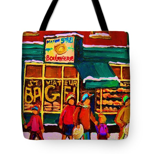 St. Viateur Bagel Family Bakery Tote Bag by Carole Spandau