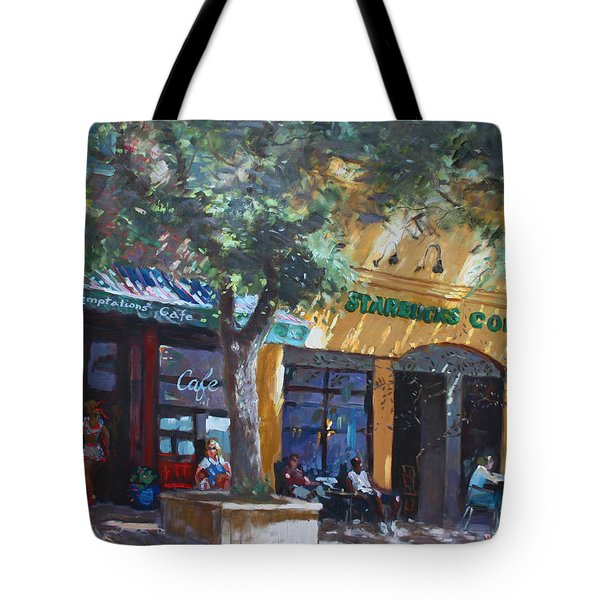 Starbucks Hangout Tote Bag by Ylli Haruni