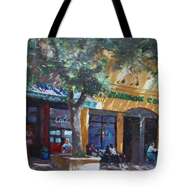 Starbucks Hangout Tote Bag by Ylli Haruni