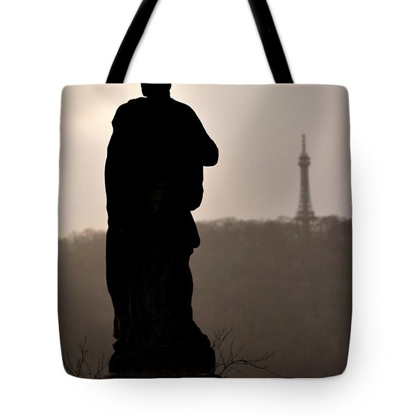 Statue And Petrin Tower Tote Bag