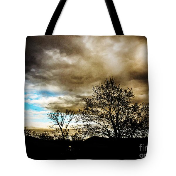 Storm  Coming  Tote Bag by MaryLee Parker