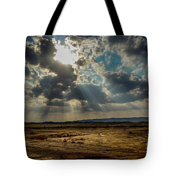 Stormy  Light Rays  Tote Bag
