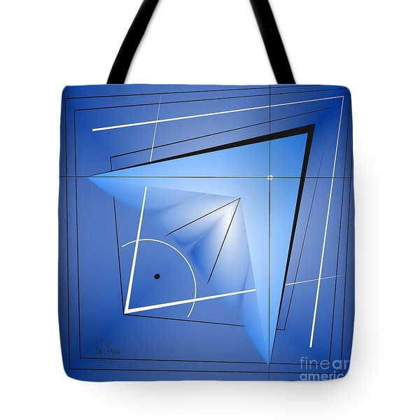 Tote Bag featuring the digital art  Structural Limitations Of Thought by Leo Symon