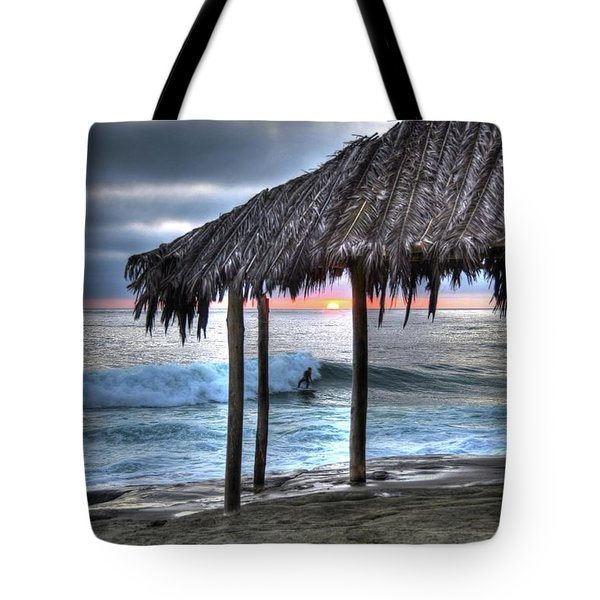 Sunset Surfing Tote Bag by Kelly Wade