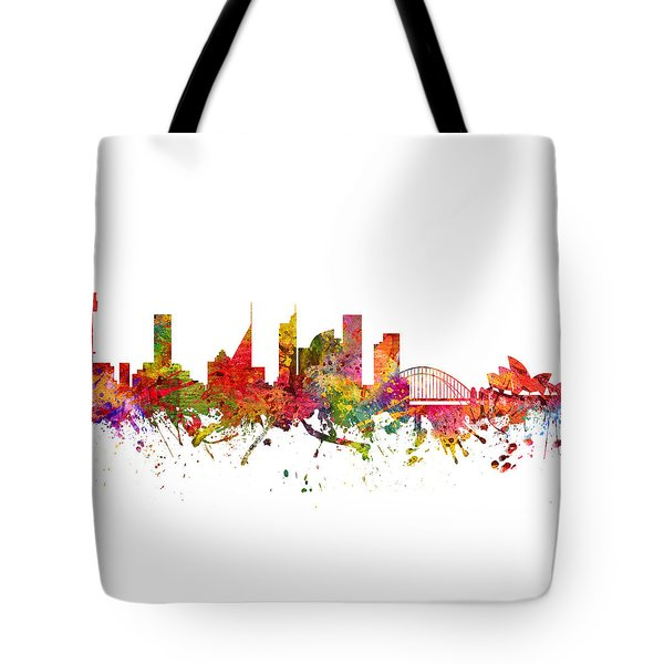 Sydney Australia Cityscape 08 Tote Bag by Aged Pixel