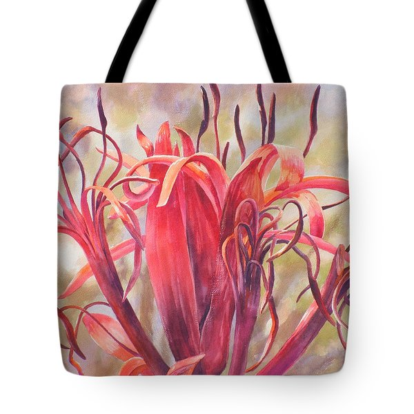 Tendrils Gymea Lily   Tote Bag by Ekaterina Mortensen