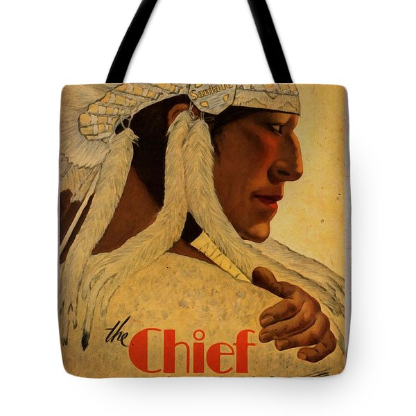 The Chief Train - Vintage Poster Vintagelized Tote Bag