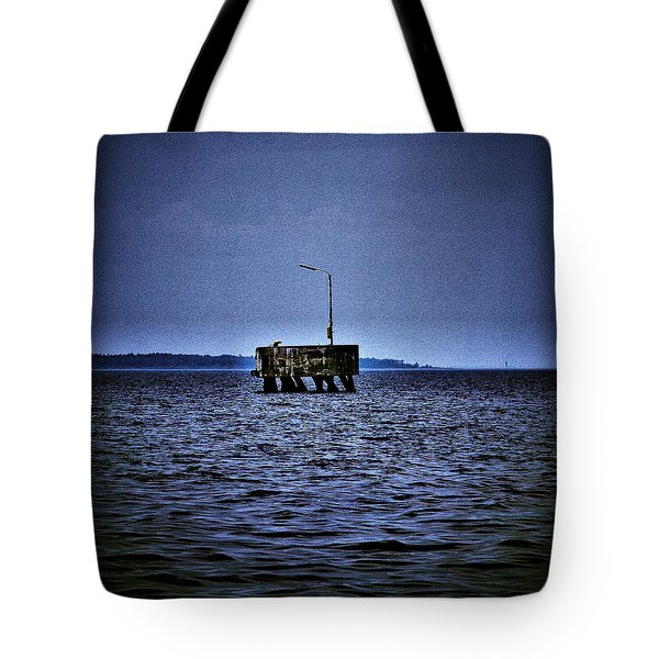 Tote Bag featuring the photograph  The Dock Of Loneliness by Jouko Lehto