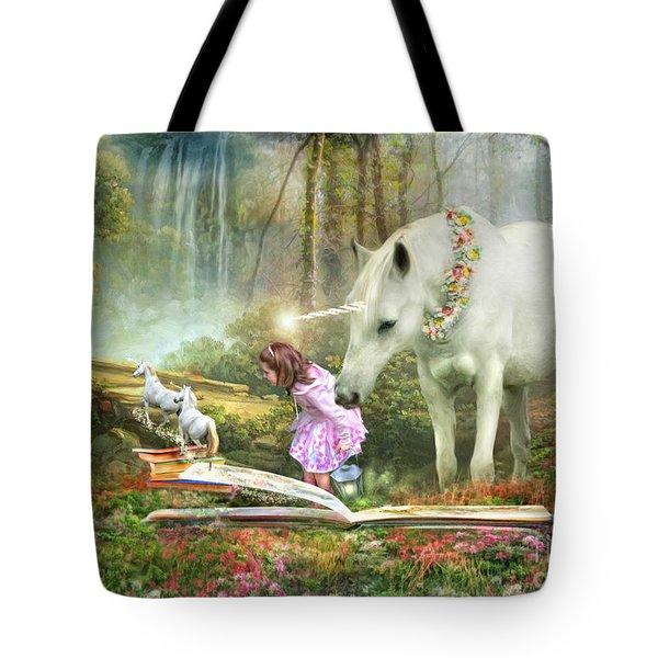 The Unicorn Book Of Magic Tote Bag