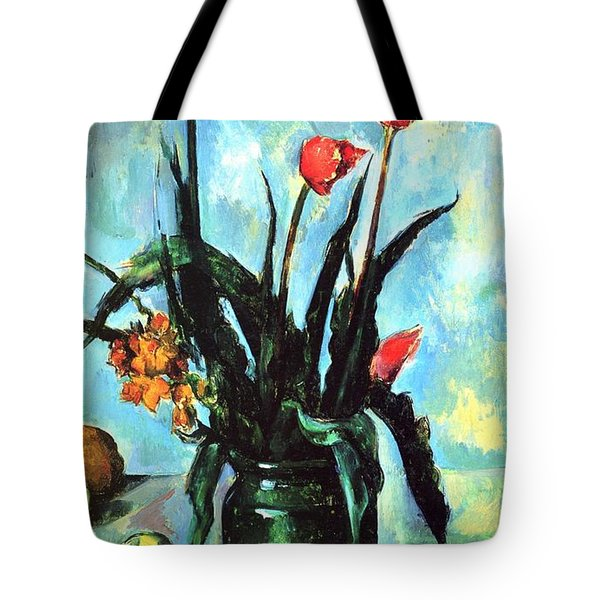 Tulips In A Vase Tote Bag