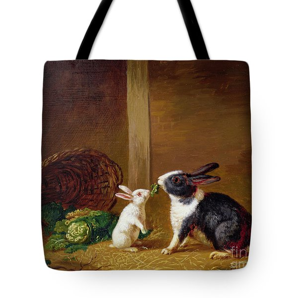 Two Rabbits Tote Bag