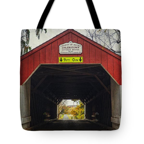 Uhlerstown Covered Bridge Iv Tote Bag