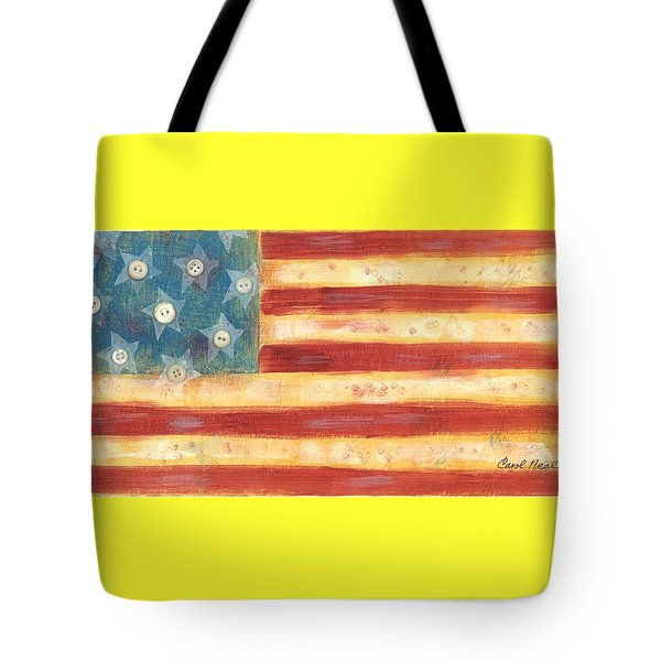 U.s. Flag Vintage Tote Bag