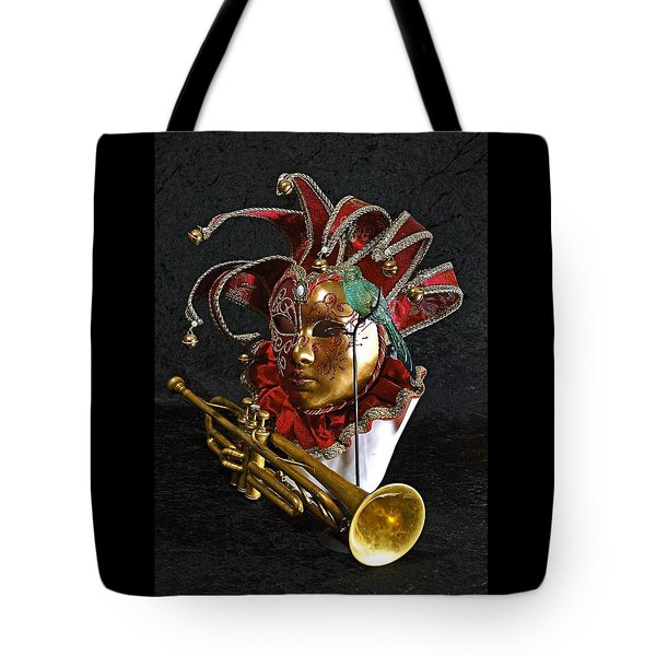 Venitian Joker Tote Bag by Elf Evans