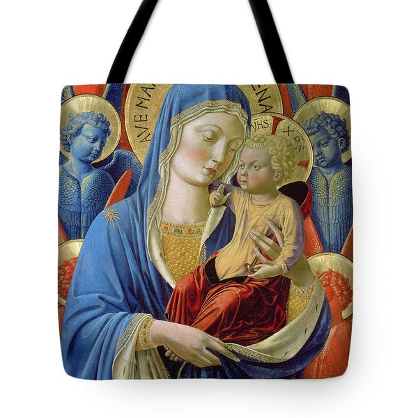 Virgin And Child With Angels Tote Bag by Benozzo di Lese di Sandro Gozzoli
