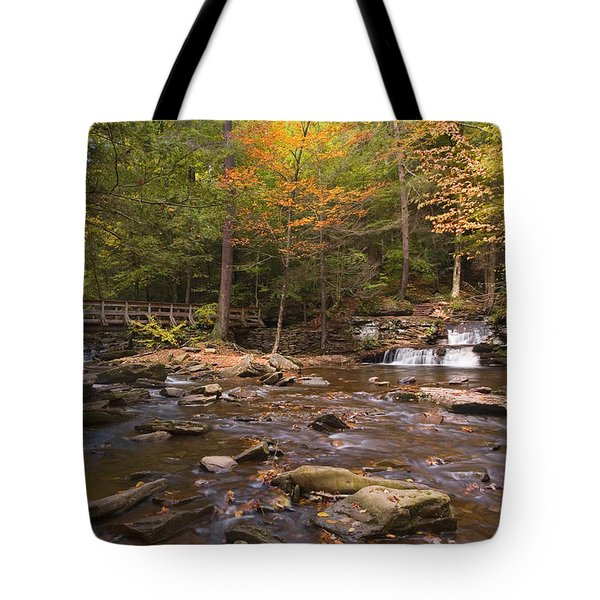 Tote Bag featuring the photograph  Watching The Waters Meet by Gene Walls