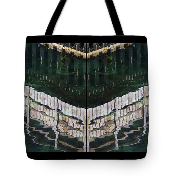 Tote Bag featuring the photograph  Water Reflection Twofold by Heiko Koehrer-Wagner