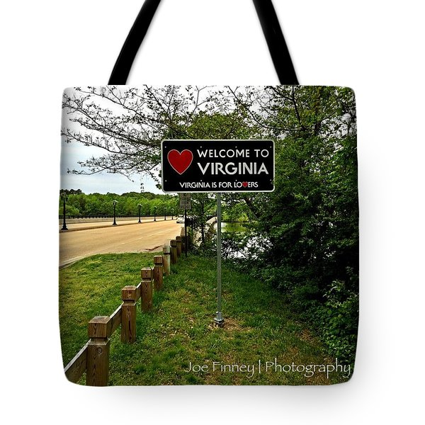 Welcome To Virginia  - No.430 Tote Bag