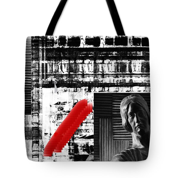Where In The Riddle The Answer Hides And Red Tote Bag by Danica Radman