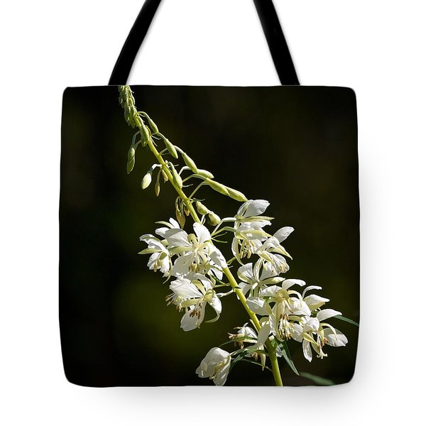Tote Bag featuring the photograph  White Fireweed by Jouko Lehto