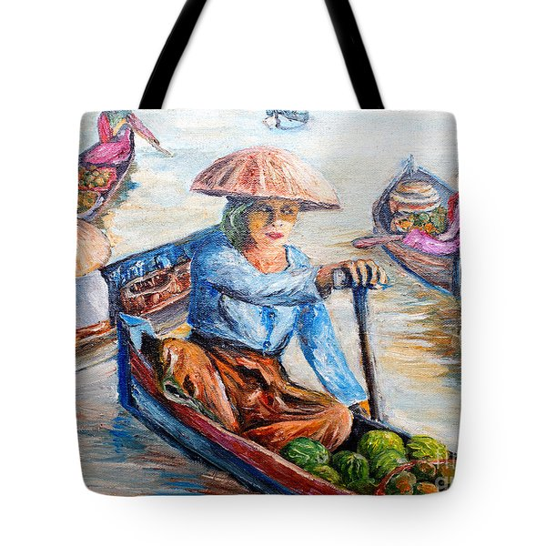 Women On Jukung Tote Bag