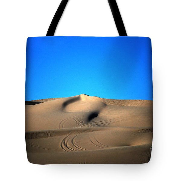 Yuma Dunes Number One Bright Blue And Tan Tote Bag