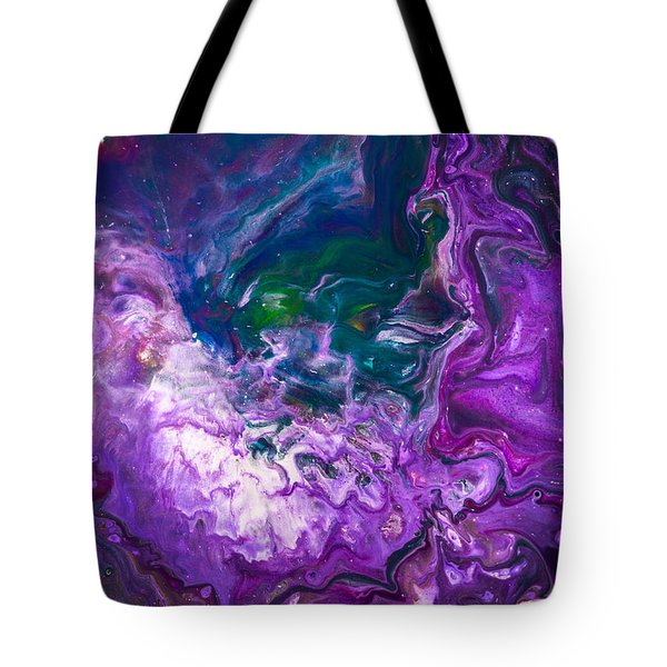 Zeus - Abstract Colorful Mixed Media Painting Tote Bag