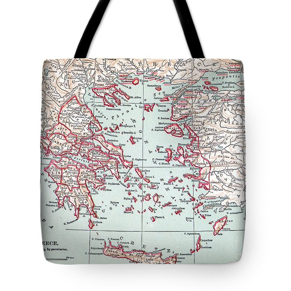 Map: Ancient Greece Tote Bag by Granger