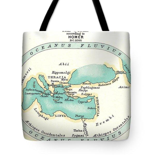 World Map, C1000 B.c Tote Bag by Granger