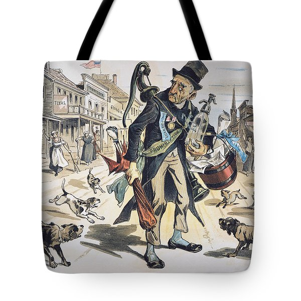 Prohibition  Cartoon, 1889 Tote Bag by Granger