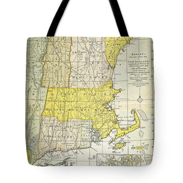New England Map, C1775 Tote Bag by Granger