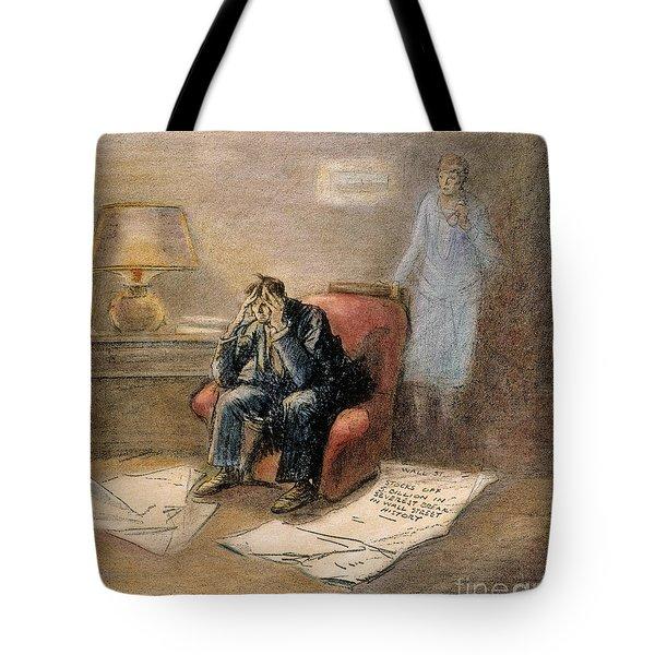 Stock Market Cartoon Tote Bag by Granger