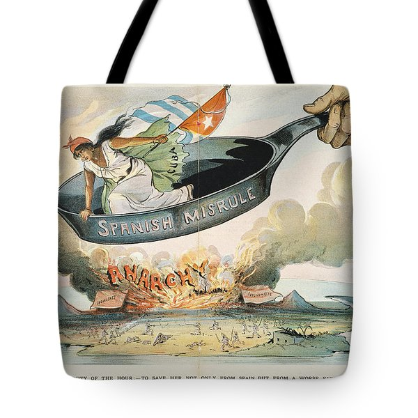 Spanish-american War, 1898 Tote Bag by Granger