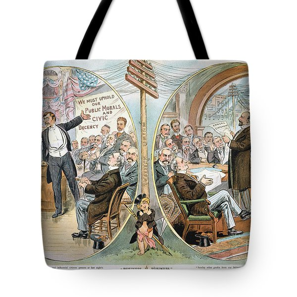 Business Cartoon, 1904 Tote Bag by Granger