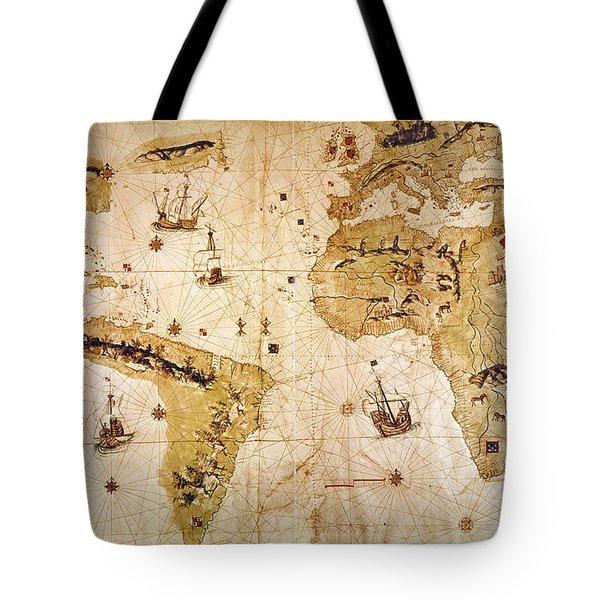 Vespucci's World Map, 1526 Tote Bag by Granger