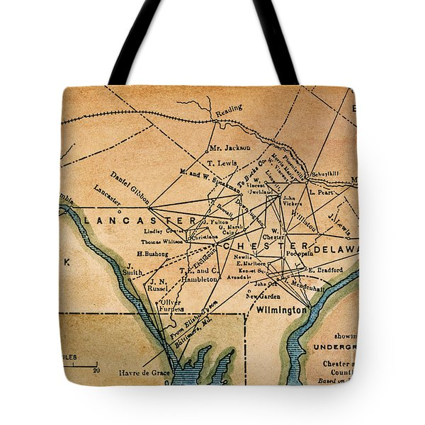 Underground Railroad Map Tote Bag by Granger