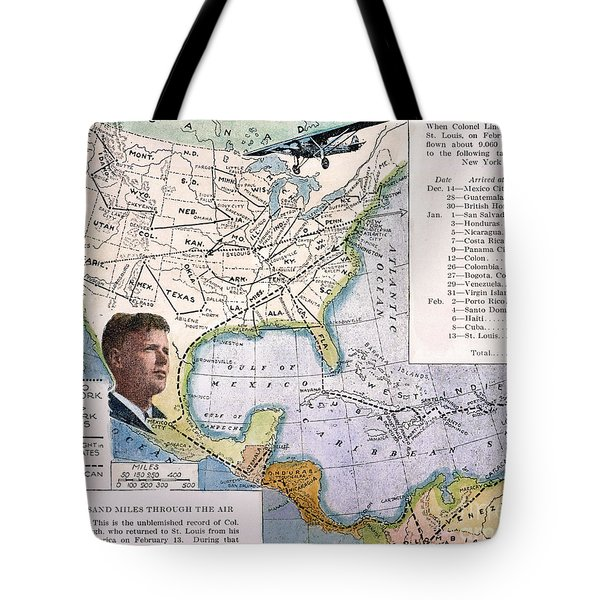 Charles Lindbergh Tote Bag by Granger