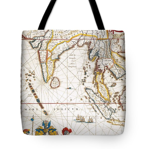 South Asia Map, 1662 Tote Bag by Granger