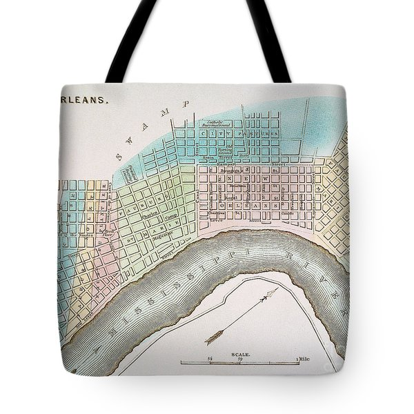 New Orleans Map, 1837 Tote Bag by Granger