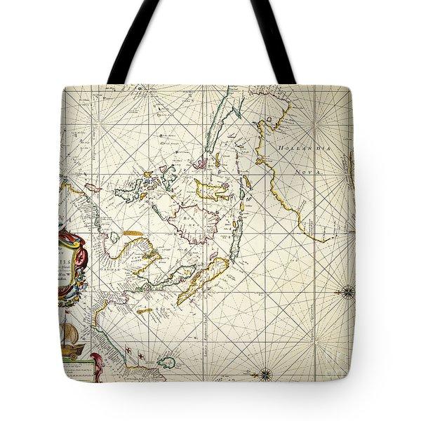Map: East Indies, 1670 Tote Bag by Granger