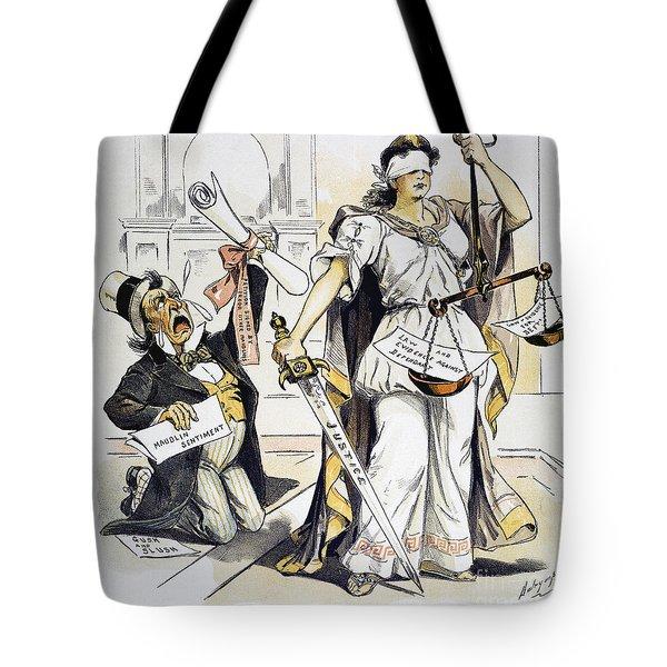Justice Cartoon Tote Bag by Granger