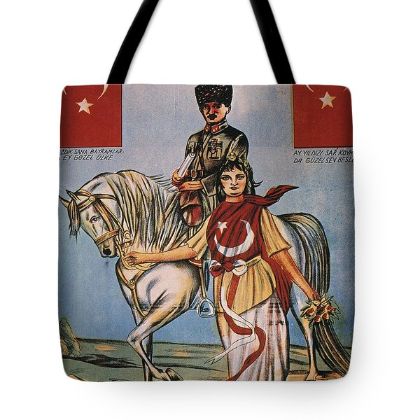 Republic Of Turkey: Poster Tote Bag by Granger
