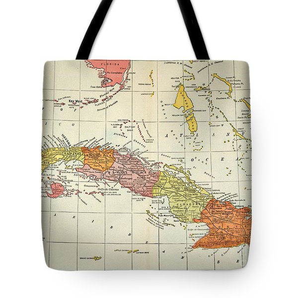 Map: Cuba, 1900 Tote Bag by Granger