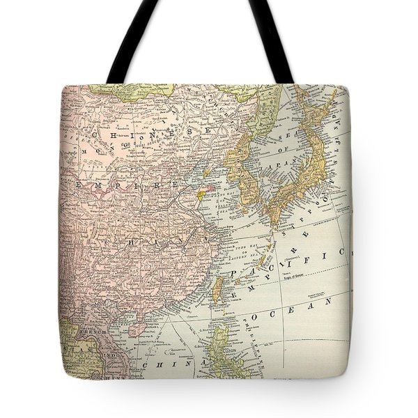 Map: East Asia, 1907 Tote Bag by Granger